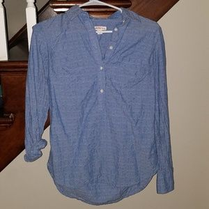Merona XS 1/4 buttoned light denim shirt